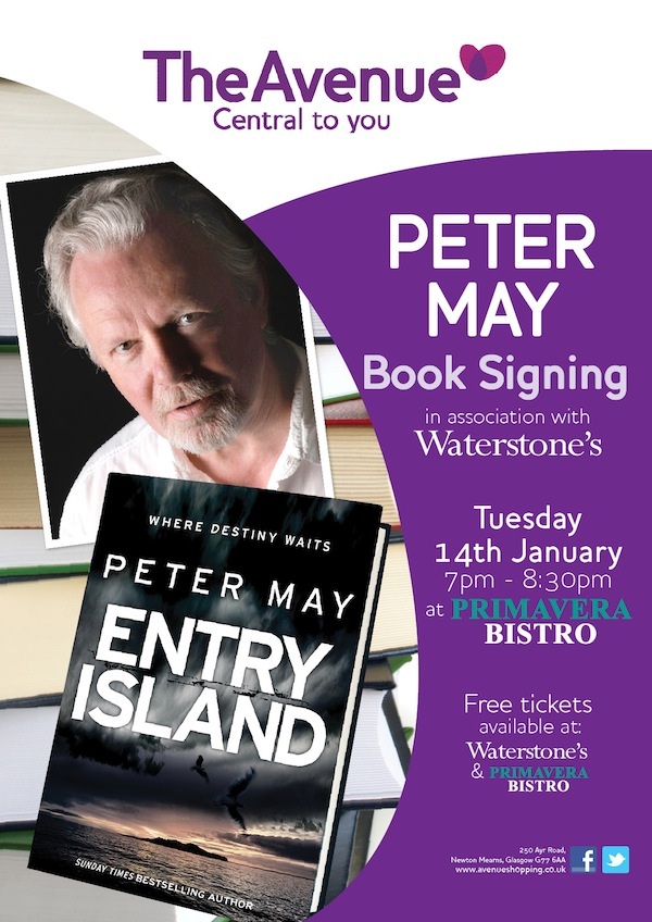 Ave Peter May Book Signing-OFFSITE