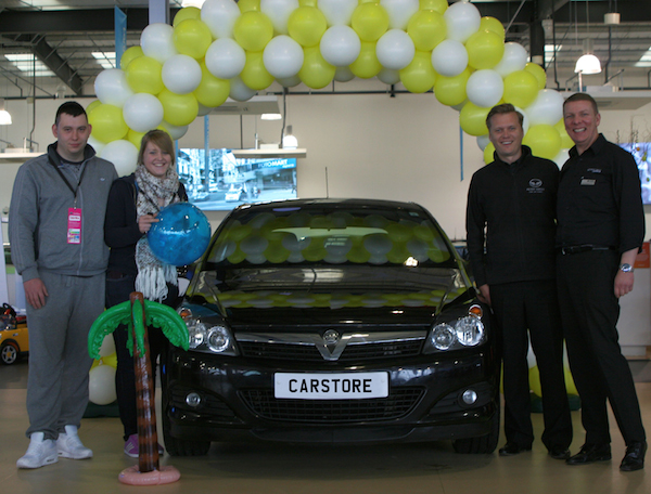From L-R Darren Telfer, Lauren Young, Peter Vardy Ltd CEO, Peter Vardy and CarStore Managing Partner, Darren Cuthbertson
