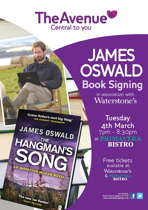 James Oswald Book Signing
