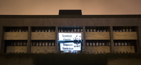 WWF Earth Hour - Glasgow, Scotland Pictured - Glasgow Sheriff