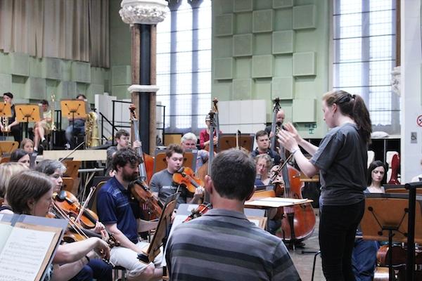 Isla Ratcliffe conducting